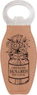 Grpn Italy - Personalized Leather Magnet Bottle Opener - Mason Jar