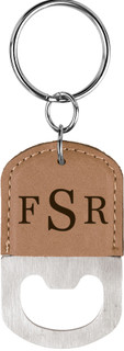 Grpn BE - Personalized Leather Key Chain Bottle Opener - Masculine Monogram