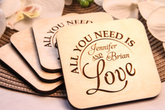 Grpn BE  - Personalized Coaster Set - All You Need is Love