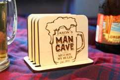 Grpn BE  - Personalized Coaster Set - Man Cave