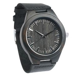 Grpn BE - Wood Engraved Watch W#100 - Ebony