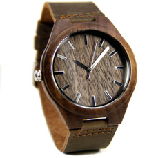 Grpn BE - Wood Engraved Watch W#79 - Rustic
