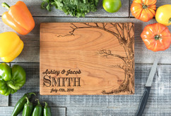 Cherry Personalized Cutting Board ~ Love Tree w/Names