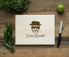 Heisenberg  Personalized Engraved Cutting Board BW