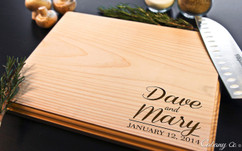 Corner Names Personalized Cutting Board BW