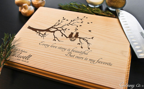 cat tree personalized engraved cutting board bw cabanyco