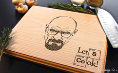 Lets Cook Corner Personalized Engraved Cutting Board BW