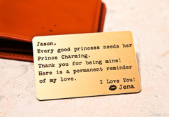Personalized Wallet Card - Every Good Princess