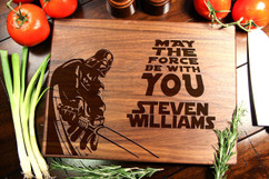 Walnut Personalized Cutting Board ~ Star Wars Darth Vader