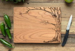 Cherry Personalized Cutting Board ~ Love Tree