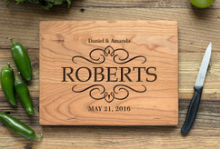 Cherry Personalized Cutting Board ~ Vintage Couple
