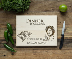 Game of Thrones Personalized Cutting Board BW