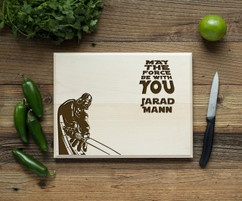 Darth Vader Star Wars Personalized Cutting Board BW