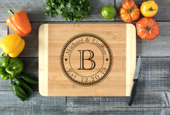 Circle Family Initial Names Personalized Cutting Board HDS
