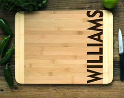 Side Family Name Personalized Cutting Board HDS