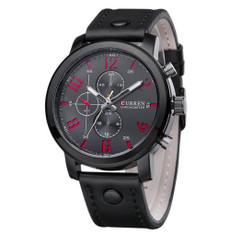 CURREN Luxury Leather Men Watch Analog Wrist Watch W#80 Gunmetal