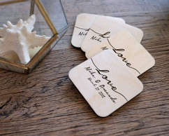 Personalized Coaster Set - Infinite Love