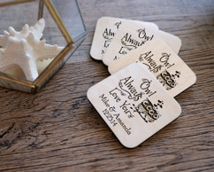 Personalized Coaster Set - Owl Love You