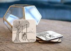 Personalized Coaster Set - Love Tree