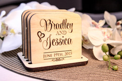Personalized Coaster Set - Stacked Name