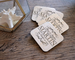 Personalized Coaster Set - Vintage Family