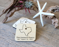 Personalized Coaster Set - State