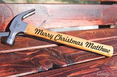 Engraved Hammer - Merry Christmas