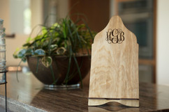 Personalized iPad Tablet Stand - Fancy Monogram
