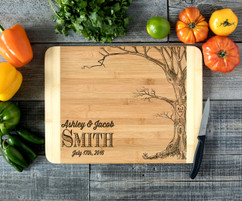 Tree Couple Personalized Cutting Board HDS