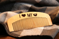 LUX - Engraved Comb - I Love My Beard