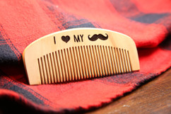 LUX - Engraved Comb - I Love My Stache
