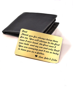 LUX - Personalized Wallet Card  - Thanks for being there