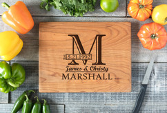Cherry Personalized Cutting Board ~ Imprint Initial