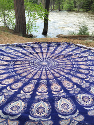 Kaleidoscope Round Tapestry Tablecloth