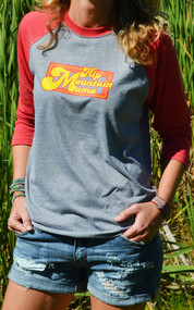 Hip Mountain Mama Baseball Tee (XS  Only)