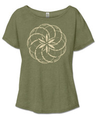 Spirograph Slouch Tee