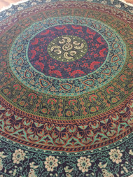 Floral Round Tapestry