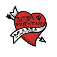 Hip Mountain Mama Heart Sticker