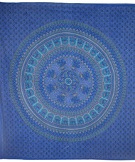 Blue Peacock Tapestry