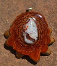 Third Eye Pinecones ~ Crazy Lace Agate