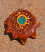 Third Eye Pinecone ~ Crushed Malachite