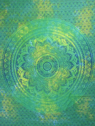 Green Lotus Tapestry