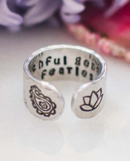 Truthful Gentle & Fearless Ring