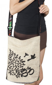 Happy Birds Om Hemp Bag
