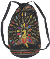 Peacock Drawstring Backpack