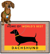 World's Best Dachshund Doormat
