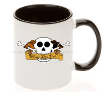 Wiener Dog Dad Skull Coffee Mug