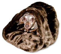 Dachshund Minky Snuggle Bag Caramel Cocoa