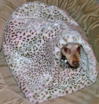 Dachshund Minky Snuggle Bag