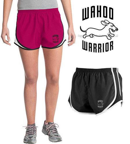 Dachshund Wahoo Warrior Velocity Running Shorts